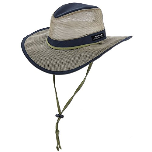 Panama Jack Hat - Mesh Safari Hat, Big Brimmed, Supplex, Sun Hat (Large, Navy) (Jack Panama Apparel)