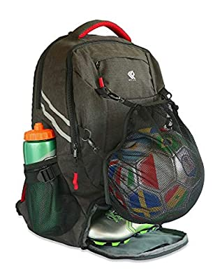 RitzKitz The Ultimate Sports Bag | Backpack Soccer, Basketball, Football, School, Gym, Travel | Separate Ball, Shoe, Laptop & Dirty Clothes Compartments Boys, Men, Youth, Girls & Women by RitzKitz