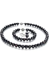 Kaitlyn Black 8-9mm A Quality Freshwater Cultured Pearl Set