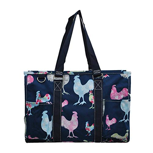 (NGIL All Purpose Organizer Medium Utility Tote Bag 2019 Collection (Rooster Navy))
