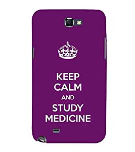 EPICCASE Med student Mobile Back Case Cover For Samsung Galaxy Note 2 (Designer Case)
