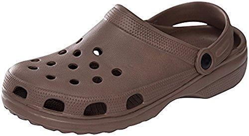 Sunville Chaussures De Sabot De Jardin Perforées Pour Hommes Marron