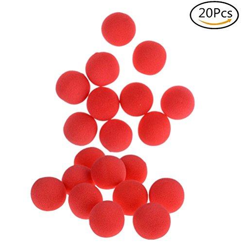 (20Pcs Red Sponge Soft Ball Close-Up Magic Street Classical Comedy Trick Props)