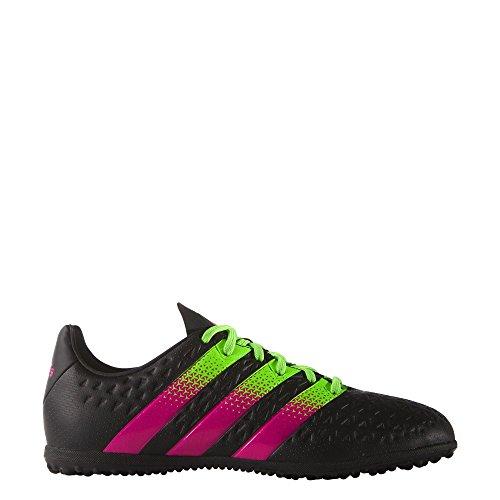 adidas Kinder Fussballschuhe ACE 16.3 TF J CBLACK/SGREEN/SHOPIN 32