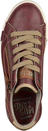 Mustang 1208302, Sneakers Basses Femme Bordeaux