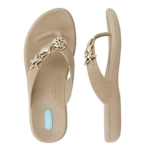 Oka-B Women's Tybee Flip Flop Sandals (Large / 10-11 B(M) US, Chai) ()