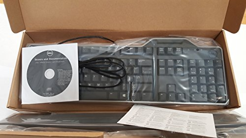 Dell KB813 Black USB English Keyboard with Smart Card Reader-3WPNC