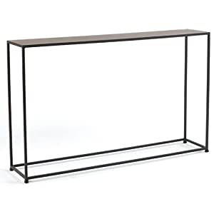 tag urban narrow console table coco brown kitchen
