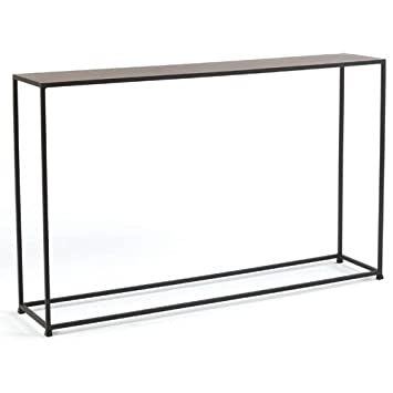 tag urban narrow console table coco brown extra long uk glass
