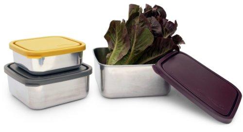 Konserve Eggplant Square Leak Resistant Nesting