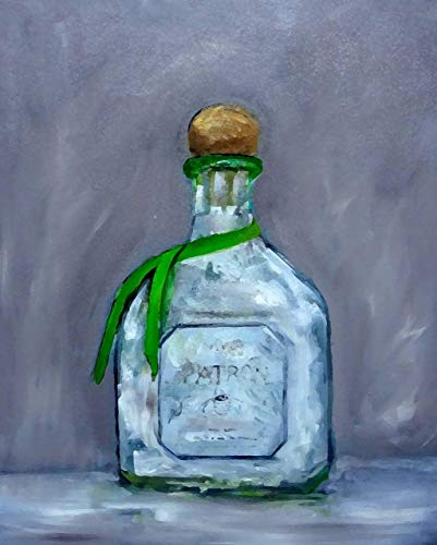 Art Signed Matted Print - Patron Silver Tequila Fine Art Print 11 x 14