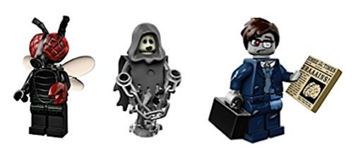 Fly Guy, Zombie Businessman, Spectre: Lego Collectible Minifigures Series 14 Monsters, Zombies, Halloween Custom Bundle 71010 -