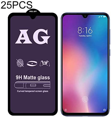 Dongdexiu Mobile Phone Accessories 25 PCS AG Matte Anti Blue Light Full Cover Tempered Glass for Xiaomi Mi 9 SE Tempered Glass Film