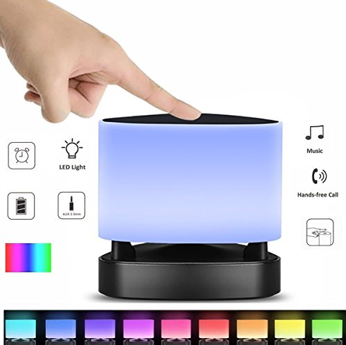Bluetooth Speaker Night light Bedside Touch Lamps Bellawang&Popcloud Mood Light Alarm Clock With Smart APP Control Color Changed With Microphone For Party ,Bathroom ,Office, Etc