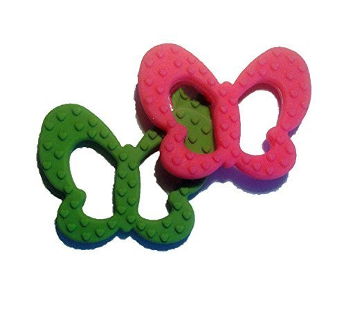 Cute Butterfly Baby Teether Toys Sitrus Co. FDA Approved & BPA- Free Bright Pink by Sitrus Co