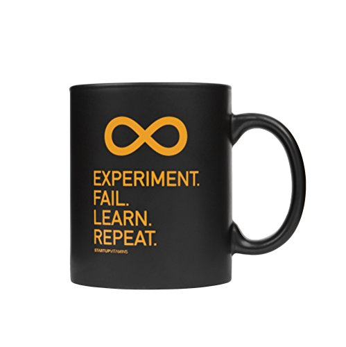 "Coffee Mug ""Experiment. Fail. Learn. Repeat."" 41Pm4t p 2BiL"