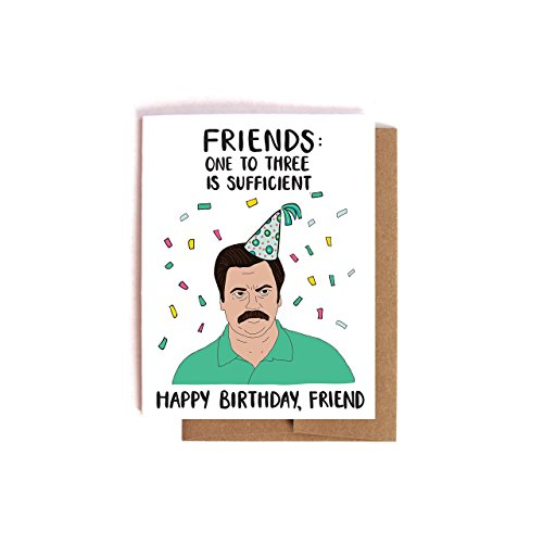 Amazoncom Ron Swanson On Friends Parks and Recreation Birthday