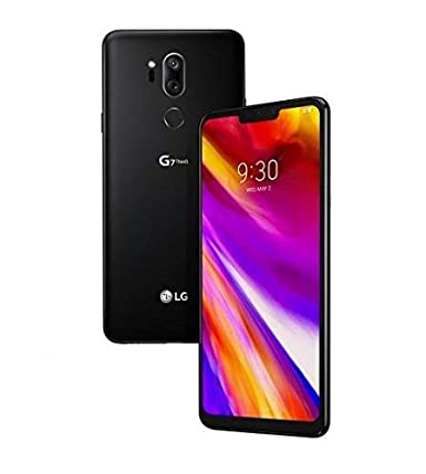 LG - G7 ThinQ for Verizon - 64GB - 6 1in QHD Display - Aurora Black - US  Warranty (Renewed)