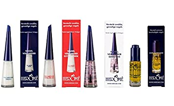 HEROME Nail Hardener 10ml | Extra Strong | Strong | Sensitive | Exit ...
