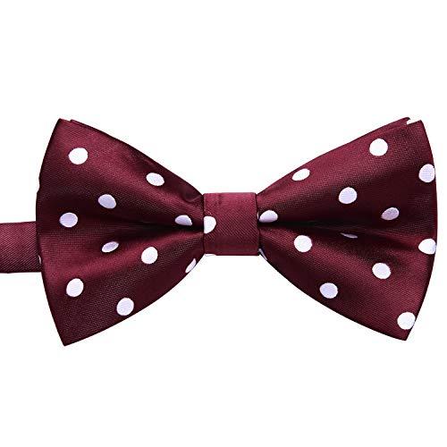 Enlision Pre-Tied Bow Tie Polka Dot Adjustable Formal Bowties Neck Tie for Men & Boys Red/White ()
