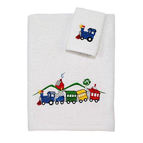 Avanti Linens Kids Off Track 2 Piece Towel Set, White