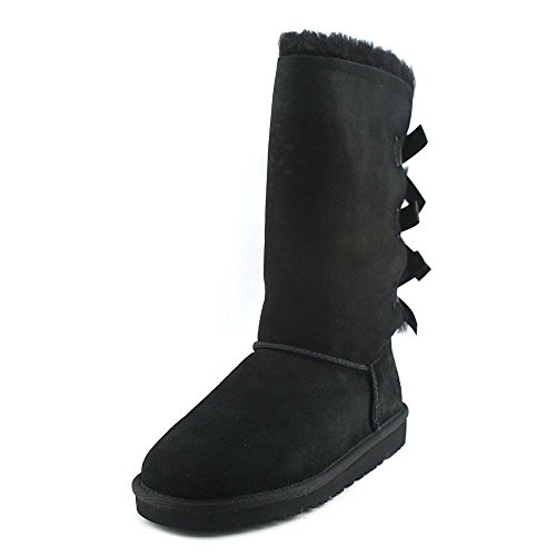 UGG Kids Girl's Bailey Bow Tall (Big Kid) Black 2 Boot 5 Big Kid M (Bailey Bow Uggs For Girls)