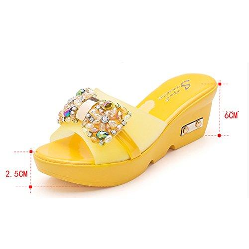 del d atractivos del Cómodo C Aumentan femeninos deslizadores los los verano zapatillas Hacia desgaste Deslizadores gruesos deslizadores fuera remolque manera con del Inclinación la de inferiores fresco p4n4YqI