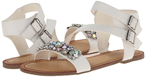887865285076 - Madden Girl Women's Kandis Sandal, White/Multi, 8.5 M US carousel main 5