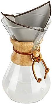 Dripdrip Foldables Filtre permanent pour caf/é en fine maille dacier inoxydable f/ür Chemex 6, 8, 10 Tassen
