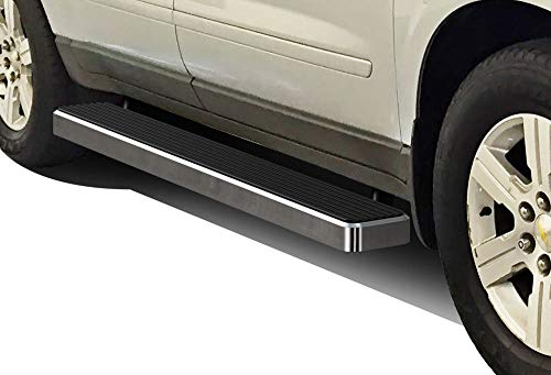 APS iBoard (Silver 6 inches) Running Boards | Nerf Bars | Side Steps | Step Rails for 2007-2017 Chevy Traverse & 2007-2009 Buick Enclave