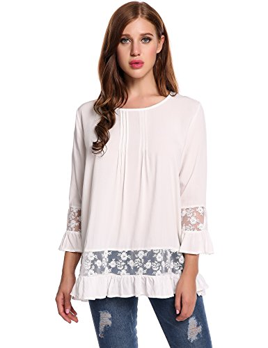 Meaneor Casual O neck Sleeves Blouse product image