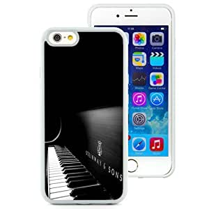 NEW Unique Custom Designed iPhone 6 4.7 Inch TPU Phone Case With Steinway And Sons Black Piano_White Phone Case