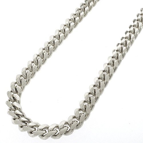 (30 Inch .925 Sterling Silver 8.5mm Solid Miami Cuban Curb Link Necklace Chain Rhodium Plated)