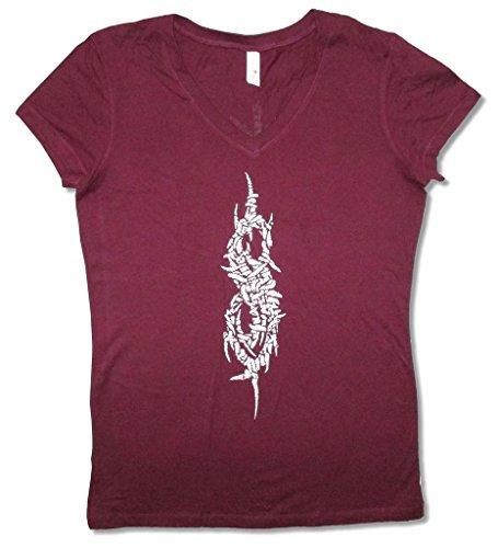 Slipknot Maggots Tour 2015 Girls Juniors Maroon Red T Shirt (L)]()