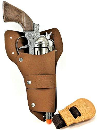 Big Game Toys~ Big TEX-Pistol Cowboy Western Holster Heavy CAST Metal Toy Cap Gun Italy