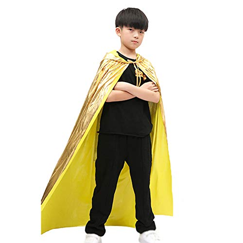 Da.Wa Halloween Costume Cos Play Adult Vampire Cloak Child Magician Death God Witch Bronzing Cloak Yellow 150cm]()