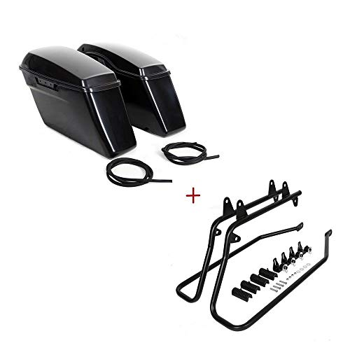 - Unpainted Hard Saddlebags Saddle Bag & Conversion Brackets For Harley Softail
