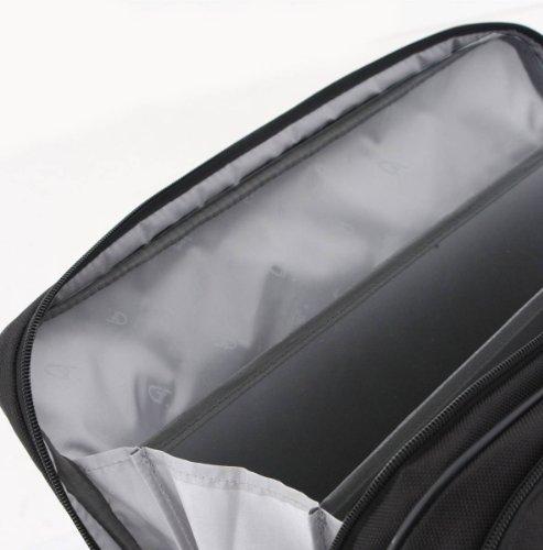 Schwarz Cirrus 17inch Laptop Business Bag von Gino Ferrari