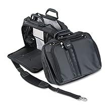 "Contour 15"""" Laptop Carrying Case, Nylon, 16-1/2 x 6-1/2 x 12-1/2, Black, Sold as 1 Each"