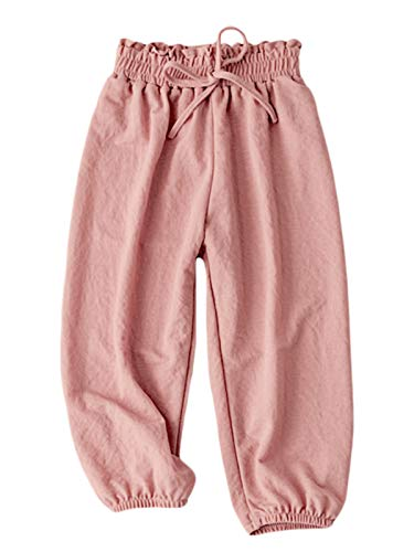 BINBOY Baby Summer Long Bloomers Lightweight and Soft Harem Pants for Boys Girls 3T-7T (3T, - Summer Pants Cotton