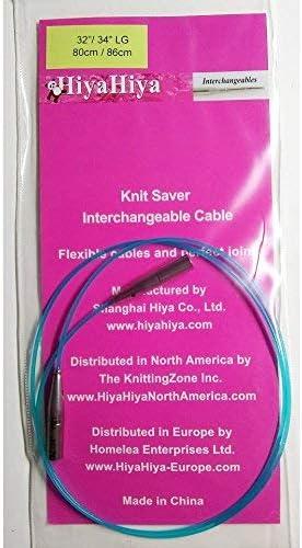 Hiya Hiya Knit Saver Cable 80cm//86cm 32//34 Large