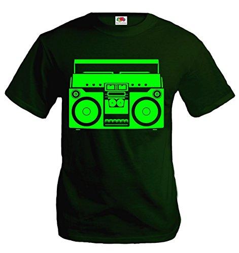buxsbaum-t-shirt-ghettoblaster-xxl-bottlegreen-neongreen