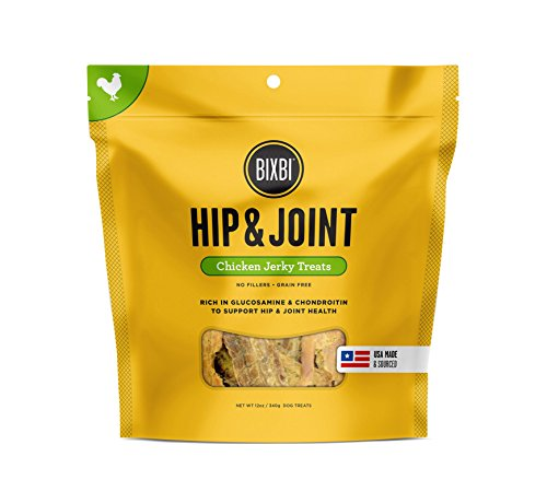 Bixbi Hip & Joint Dog Jerky Treats, Chicken, 12 Ounce