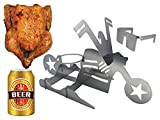 DFC Flaming Bike Beer Can Chicken Stand, Stainless