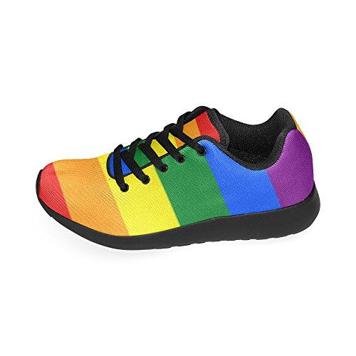 Custom Running Shoes Gay Pride Rainbow Flag Stripes Women¡¯s Running Shoes