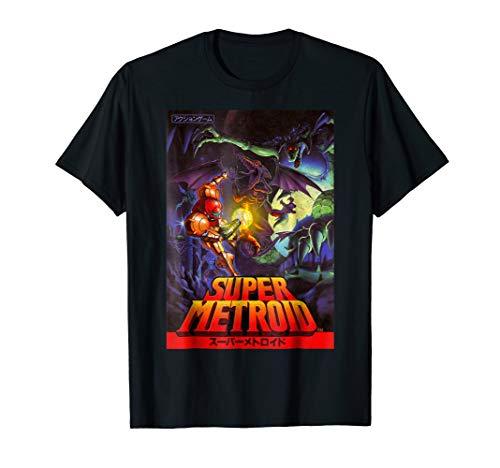 Nintendo Samus Super Metroid Cover Graphic T-Shirt (Best Metroid Prime Game)