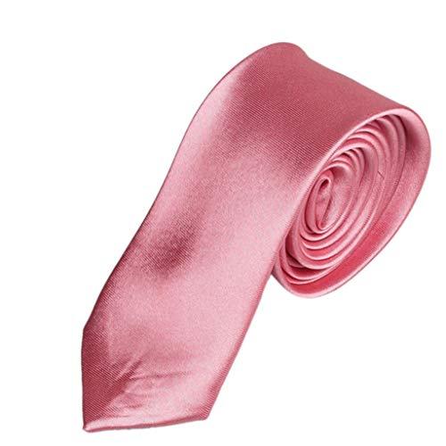 Hot Sale!Fxbar,Men's Wedding Tie Necktie Solid Adjustable Party Tie Formal Premium Pre-tied Valentine's Day Gifts (Pink) by Men's Necktie (Image #1)