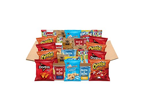 College Dorm Care Package of Chips, Chewy Bars, Oatmeal, Pasta Cups, & More, 30 Count