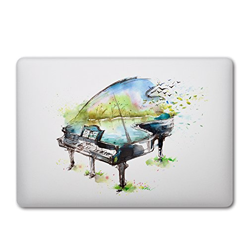 DQQH Removable Vinyl Sticker Skin for MacBook Pro Air Mac 13 inch Apple Logo - Watercolor Abstract ()