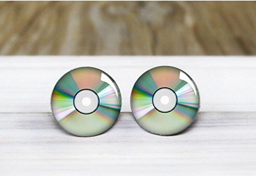Floppy Disk Halloween Costume (CD Disc Stud Earrings - Hypoallergenic Earrings for Sensitive Ears)